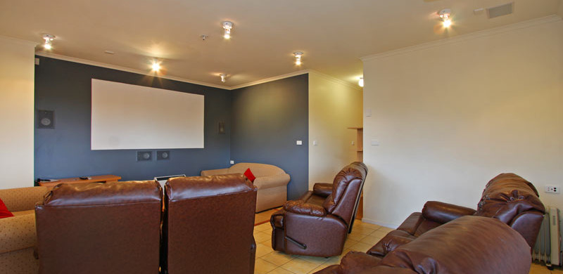 holiday home theatre room
